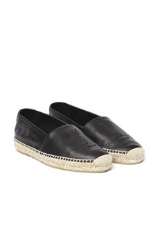 BLACK GRAINED LEATHER ESPADRILLAS SS 2020 SAINT LAURENT | 144 | 5096160AS001000