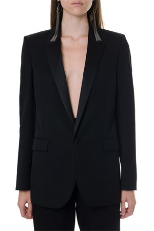 BLACK WOOL SINGLE BREAST JACKET SS 2020 SAINT LAURENT | 14 | 517741Y399W1000