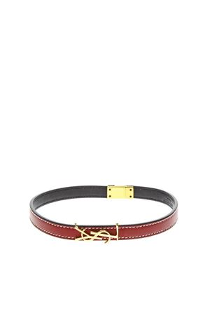OPYUM RED LEATHER DOUBLE WRAP BRACELET SS 2020 SAINT LAURENT | 59 | 536073BL40J6805