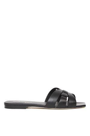 NU PIEDS TRIBUTE 05 BLACK LEATHER SANDALS SS 2020 SAINT LAURENT | 87 | 571952BDA001000