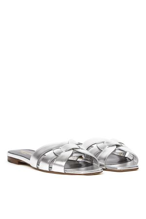 NU PIEDS TRIBUTE 05 SILVER LEATHER SANDALS SS 2020 SAINT LAURENT | 87 | 5727350PS008105