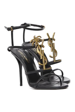 CASSANDRA BLACK LEATHER SANDALS WITH YSL MONOGRAM SS 2020 SAINT LAURENT | 87 | 5789120UXDD1000