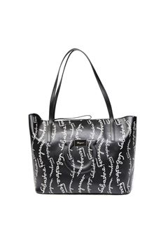 BLACK LEATHER LOGO LETTERING BAG SS 2020 SALVATORE FERRAGAMO | 2 | 72572721H568004