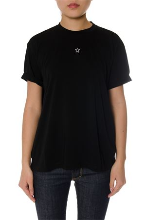 BLACK COTTON T-SHIRT WITH STAR SS 2020 STELLA McCARTNEY | 15 | 457142SIW201000