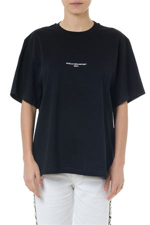 BLACK COTTON T-SHIRT WITH STELLA MCCARTNEY 2001 EMBROIDERY SS 2020 STELLA McCARTNEY | 15 | 511240SMW211000