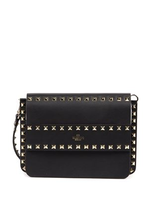 ROCKSTUD SPIKE BLACK LEATHER SHOULDER BAG SS 2020 VALENTINO GARAVANI | 2 | TW2B0E86BOL0NO