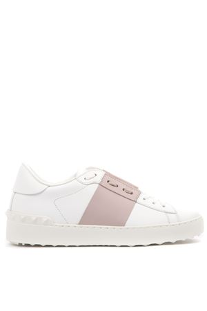 OPEN WHITE & ROSE LEATHER SNEAKERS SS 2020 VALENTINO | 55 | TW2S0781BLU834