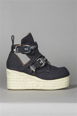 80MM CANVAS WEDGES SS 2014 JEFFREY  CAMPBELL | 52 | PLATRANE2012-516BLACK