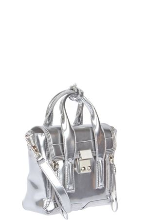 BORSA MINI PASHLI IN PELLE METALIZZATA PE 2016 3.1 PHILLIP LIM | 2 | AH15-0226CCSPASHLI MINI SATCHELMETALLIC TIN