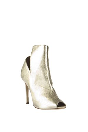 OPEN TOE METALLIC LEATHER ANKLE BOOTS SS 2016 ALDO CASTAGNA | 52 | NOEMI801LAMINATOPLATINO