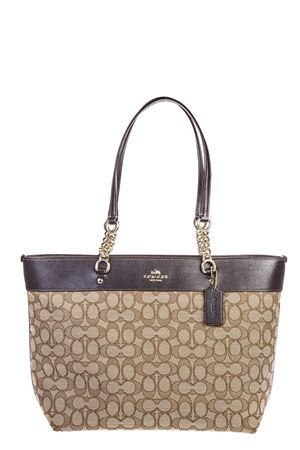BORSA IN PELLE E TESSUTO AI 2016 COACH | 2 | 36708UNIKHAKI/BROWN