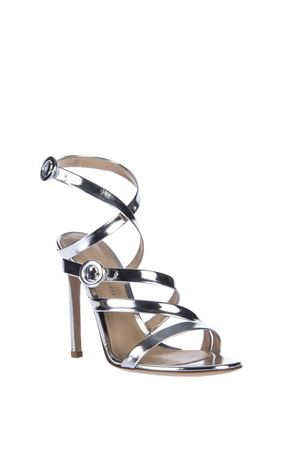 METALLIC LEATHER SANDALS SS 2016 GIANVITO ROSSI | 87 | G3052715RICSILVER