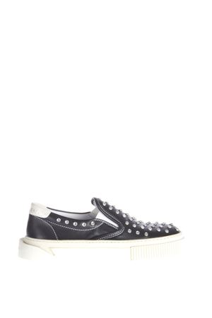 STUDDED LEATHER SLIP-ON SNEAKERS SS 2016 GIENCHI | 55 | GXD036BR00VITB999