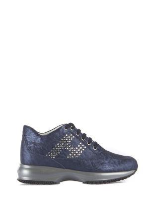Blue leather calfskin with strass details HOGAN | 55 | HXW00N0E4317HVU800