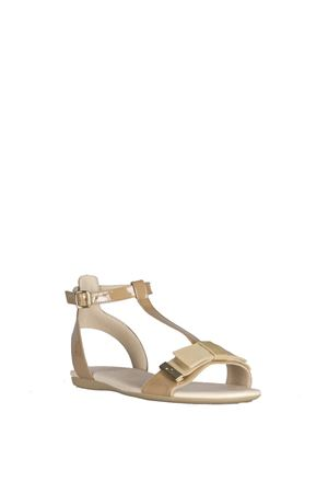 BEIGE PATENT LEATHER SANDALS SS 2016 HOGAN | 87 | HXW1330U700OW0C207