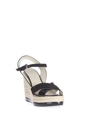 PATENT AND SUEDE WEDGE SANDAL SS 2016 HOGAN | 87 | HXW2860R4602IDB999