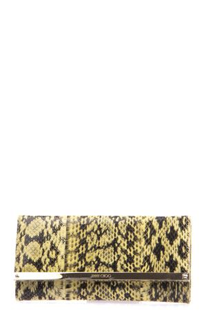 MILLA PYTHON LEATHER CLUTCH SS 2016 JIMMY CHOO | 2 | MILLAGELBUTTERCUP