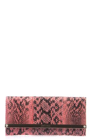 MILLA PYTHON LEATHER CLUTCH SS 2016 JIMMY CHOO | 2 | MILLAGELCORAL PINK
