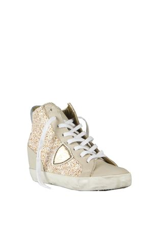 GLITTER FABRIC & LEATHER SNEAKERS SS 2016 PHILIPPE MODEL | 55 | PFHDPIAF GLITTERGG19