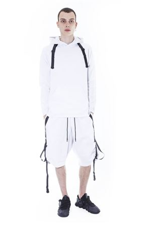 BUCKLE STRAP COTTON HOODIE SS 2017 ADIDAS Y-3 | 19 | BR1673M SCIFIWHITE