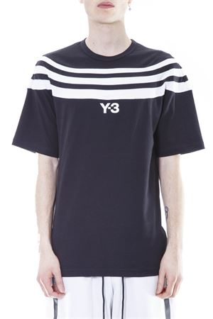 STRIPED COTTON T-SHIRT SS 2017 ADIDAS Y-3 | 15 | BS3404M 3STRBLACK