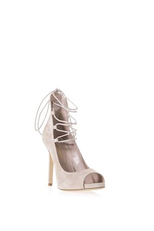 SUEDE LACE-UP PUMPS ALDO CASTAGNA | 68 | SOFIAUNISKIN/NUDE
