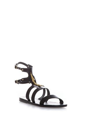 AGAPI LEATHER FLATS SANDALS SS 2017 ANCIENT GREEK | 87 | AGAPI SNAKES1BLACK