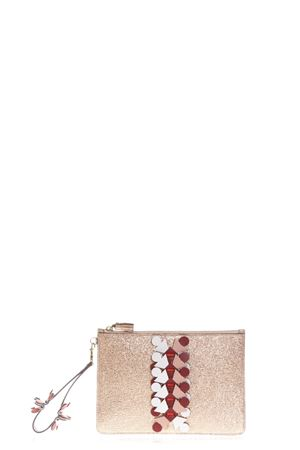 BUSTA CIRCLE IN PELLE GLITTER PE17 ANYA HINDMARCH | 5 | 9492931SALMON