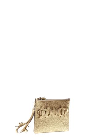 BUSTA CIRCLE IN PELLE GLITTER PE17 ANYA HINDMARCH | 5 | 9499341METALLIC