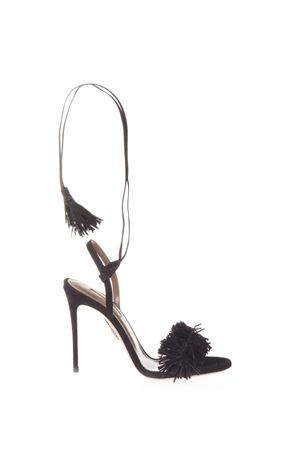 SANDALI WILD THINGS IN CAMOSCIO PE 17 AQUAZZURA | 87 | WITHIGS0SUE-000BLACK