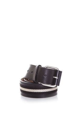 TIANS CANVAS & LEATHER BELT SS 2017 BALLY | 12 | 6187224TIANISBLACK/BEIGE