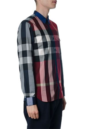 MULTICOLOR COTTON SHIRT WITH CHECKHOUSE PRINT SS 2018 BURBERRY | 9 | 40514671RED