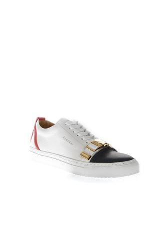 WHITE LEATHER SNEAKERS WITH BUCKLE DETAIL SS 2017 BUSCEMI | 55 | 1050S161WC0