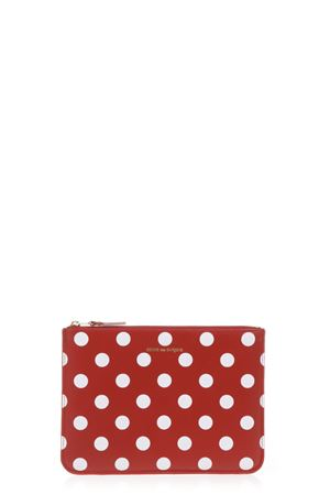 POLKA DOT LEATHER POUCH SS 2017 COMME DES GARCONS | 2 | SA5100PD1RED