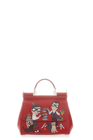 SMALL SICILY DAUPHINE LEATHER BAG SS17 DOLCE & GABBANA | 2 | BB6002AI07980303