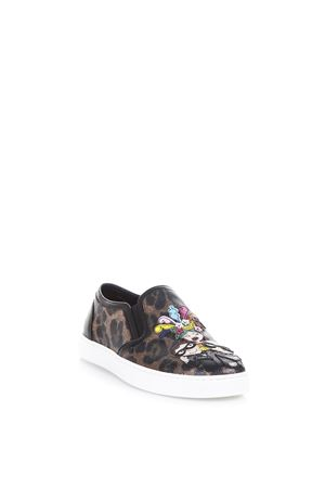 DESIGNERS PATCH LEOPARD PRINTED SNEAKERS SS 2017 DOLCE & GABBANA | 55 | CK0028AG352HA94N