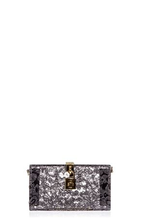 DOLCE BOX CLUTCH IN PLEXIGLASS AND INSET TAORMINA LACE SS 2017 DOLCE & GABBANA | 2 | BB6232AG28387505