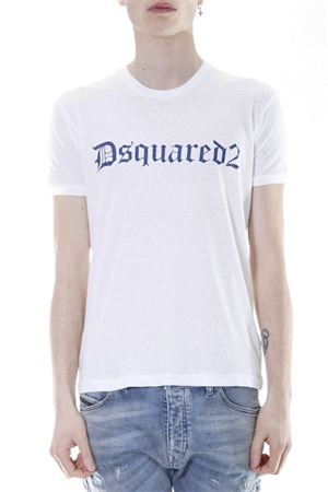 T-SHIRT IN COTONE CON STAMPA PE 2017 DSQUARED2 | 15 | S71GD0509S22507100