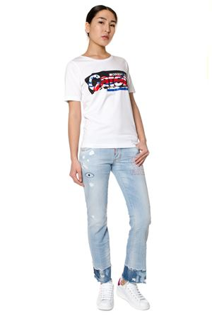 T-SHIRT IN COTONE STAMPA CATEN PE 2017 DSQUARED2 | 15 | S72GC0971S22844100