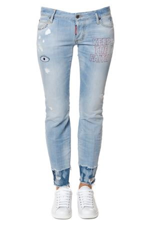 JEANS FLARE IN DENIM STRETCH PE 2017 DSQUARED2 | 4 | S72LA0937S30342470