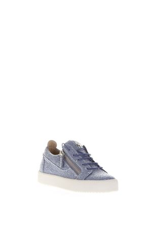 FRANKIE GLITTER LEATHER LOW-TOP SNEAKERS SS 2017 GIUSEPPE ZANOTTI | 55 | RS7002LOGOBALL002