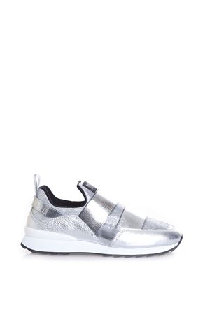 R261 TECHNO SHINY FABRIC & LEATHER SLIP-ON SS 2017 HOGAN REBEL | 55 | HXW2610T231GB1B200