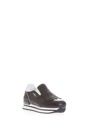 FRINGED SLIP-ON LEATHER SNEAKERS SS 2017 HOGAN | 55 | HXW2220X170DZF0160