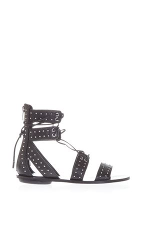 FABIA STUDDED SUEDE ANKLE TIE SANDALS SS 2017 KENDALL+KYLIE | 87 | KKFABIA01BLACK