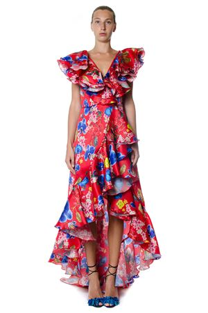 MULTICOLOURED FLORAL PRINT SILK DRESS SS 2017 LEITMOTIV | 32 | LEP7ABUL1A191