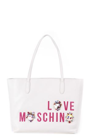 EMBELLISHED FAUX LEATHER TOTE ss 2017 LOVE MOSCHINO | 2 | JC4313PP03KR10110