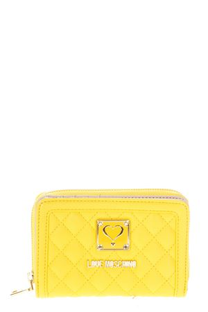 QUILTED FAUX LEATHER WALLET WITH LOGO fw 2017 LOVE MOSCHINO | 34 | JC5500PP13LAUNI0400