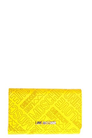 LOGO PRINTED FAUX LEATHER WALLET FW 2017 LOVE MOSCHINO | 34 | JC5505PP13LCUNI0400