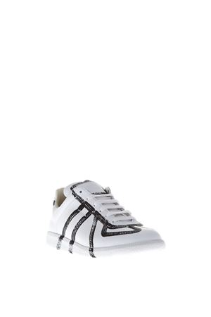 SNEAKERS IN PELLE CON PAINT A CONTRASTO PE 2017 MAISON MARGIELA | 55 | S37WS0306SY0484961