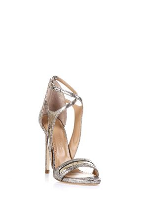 GLITTER EFFECT LEATHER SANDALS SS 2017 MARC ELLIS | 87 | MA1032IRONPLATINO